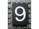 Part No: Mx1043pb36  Name: Modulex Tile 3 x 4 with White '9' Pattern