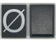 Part No: Mx1043pb60  Name: Modulex Tile 3 x 4 with White 'Ø' Pattern