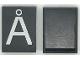 Part No: Mx1043pb62  Name: Modulex Tile 3 x 4 with White 'Å' Pattern