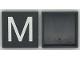 Part No: Mx1044pb01  Name: Modulex Tile 4 x 4 with White 'M' Pattern
