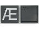 Part No: Mx1044pb04  Name: Modulex Tile 4 x 4 with White 'Æ' Pattern