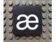 Part No: Mx1044pb05  Name: Modulex Tile 4 x 4 with White 'æ' Pattern