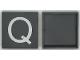 "Part No: Mx1044pb06  Name: Modulex Tile 4 x 4 with White ""Q"" Pattern"