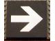 Part No: Mx1088pb01  Name: Modulex Tile 8 x 8 (no Internal Supports) with White Arrow Pattern