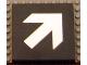 Part No: Mx1088pb02  Name: Modulex Tile 8 x 8 (no Internal Supports) with Diagonal White Arrow Pattern