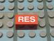Part No: Mx1021Apb153  Name: Modulex, Tile 1 x 2 with White 'RES' Pattern