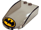 Part No: 18973pb10  Name: Windscreen 6 x 4 x 1 Curved with Batman Logo Pattern (Sticker) - Set 76054