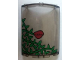 Part No: 30562pb001L  Name: Cylinder Quarter 4 x 4 x 6 with Ivy Plant and Red Flower Closed Pattern (Sticker) - Set 7785