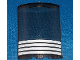 Part No: 30562pb013  Name: Cylinder Quarter 4 x 4 x 6 with 4 White Stripes Pattern (Sticker) - Set 4513