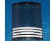 Part No: 30562pb013  Name: Cylinder Quarter 4 x 4 x 6 with 4 White Stripes Pattern (Sticker) - Set 4513
