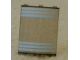 Part No: 30562pb016  Name: Cylinder Quarter 4 x 4 x 6 with 6 White Stripes Pattern (Stickers) - Set 7047