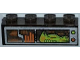 Part No: 3066pb001  Name: Brick 1 x 4 without Bottom Tubes with Alien on Monitor Pattern (Sticker) - Set 7648