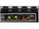 Part No: 3066pb002  Name: Brick 1 x 4 without Bottom Tubes with Alien Spaceships on Monitor Pattern (Sticker) - Set 7648