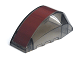 Part No: 41883pb002  Name: Windscreen 6 x 4 x 2 Wedge Curved with Wide Dark Red Stripe Pattern (Sticker) - Set 7676