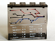 Part No: 4215bpb36  Name: Panel 1 x 4 x 3 - Hollow Studs with Train Map and Schedule Pattern (Sticker) - Set 7897/7997
