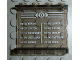 Part No: 4215bpb43  Name: Panel 1 x 4 x 3 - Hollow Studs with Schedule Pattern 3 on Inside (Sticker) - Set 4511