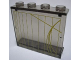 Part No: 4215bpb50  Name: Panel 1 x 4 x 3 - Hollow Studs with Yellow Lines Pattern (Sticker) - Set 7666