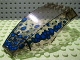 Part No: 45705pb001  Name: Windscreen 10 x 6 x 2 Curved with Blue Scales Pattern