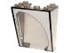 Part No: 4872pb05L  Name: Windscreen 3 x 4 x 4 Inverted with Wiper Pattern Model Left (Sticker) - Set 10195
