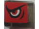 Part No: 54200pb082L  Name: Slope 30 1 x 1 x 2/3 with Angry Red Eye Pattern Model Left Side (Sticker) - Set 8182