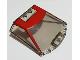 Part No: 65633pb01  Name: Windscreen 6 x 6 x 1 1/3 with Red Ferrari F8 Tributo Pattern