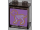 Part No: 87552pb014  Name: Panel 1 x 2 x 2 with Side Supports - Hollow Studs with X-Ray Dog Skeleton on Purple Background Pattern (Sticker) - Set 3188