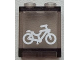 Part No: 87552pb023  Name: Panel 1 x 2 x 2 with Side Supports - Hollow Studs with White Bicycle Pattern (Sticker) - Set 60051