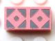 Part No: Mx1021Apb165  Name: Modulex, Tile 1 x 2 with Dark Gray Diamonds Outline Double Pattern
