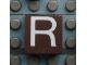Part No: Mx1022Apb018  Name: Modulex, Tile 2 x 2 with White 'R' Pattern