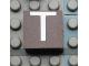 Part No: Mx1022Apb020  Name: Modulex, Tile 2 x 2 with White 'T' Pattern