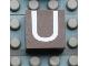 Part No: Mx1022Apb021  Name: Modulex, Tile 2 x 2 with White 'U' Pattern