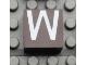 Part No: Mx1022Apb023  Name: Modulex, Tile 2 x 2 with White 'W' Pattern