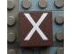 Part No: Mx1022Apb024  Name: Modulex Tile 2 x 2 with White 'X' Pattern