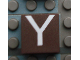Part No: Mx1022Apb025  Name: Modulex Tile 2 x 2 with White 'Y' Pattern