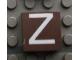 Part No: Mx1022Apb026  Name: Modulex Tile 2 x 2 with White 'Z' Pattern