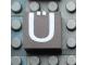 Part No: Mx1022Apb029  Name: Modulex, Tile 2 x 2 with White 'Ü' Pattern
