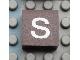 Part No: Mx1022Apb043  Name: Modulex, Tile 2 x 2 with White 's' Pattern