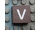 Part No: Mx1022Apb045  Name: Modulex, Tile 2 x 2 with White 'v' Pattern