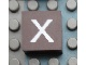 Part No: Mx1022Apb047  Name: Modulex Tile 2 x 2 with White 'x' Pattern