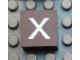 Part No: Mx1022Apb047  Name: Modulex Tile 2 x 2 with White 'x' Pattern