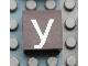 Part No: Mx1022Apb048  Name: Modulex Tile 2 x 2 with White 'y' Pattern