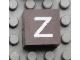 Part No: Mx1022Apb049  Name: Modulex Tile 2 x 2 with White 'z' Pattern