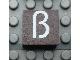 Part No: Mx1022Apb052  Name: Modulex, Tile 2 x 2 with White 'ß' Pattern