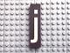Part No: Mx1082pb24  Name: Modulex Tile 2 x 8 with White 'j' Pattern