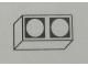 Part No: Mx1021Apb81  Name: Modulex Tile 1 x 2 with Black Circles Outline Pattern