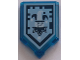 Part No: 22385pb126  Name: Tile, Modified 2 x 3 Pentagonal with Nexo Power Shield Pattern - Sir Tauntalot