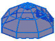 Part No: 2598  Name: Windscreen 10 x 10 x 4 Octagonal Canopy