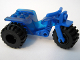 Part No: 30187c08  Name: Tricycle with Blue Chassis & Black Wheels (Rears Solid Wheel/Tire)