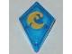 Part No: 35649pb01  Name: Tile, Modified 1 x 2 Diamond with Elemental Water Pattern