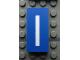 Part No: Mx1042pb05  Name: Modulex Tile 2 x 4 with White 'l' / 'I' Pattern (Lower Case L / Upper Case i)